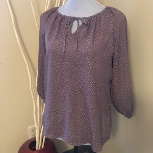 3/$20 Loft size medium blouse with front tie
